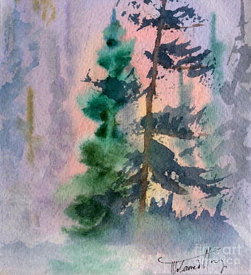 Coniferous Painting - Foggy Patch by Mohamed Hirji