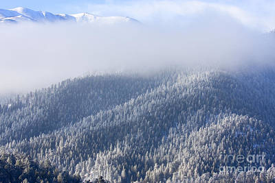 Steven Krull Royalty-Free and Rights-Managed Images - Foggy Peak by Steven Krull