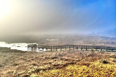 Photograph - Foggy Pier At Sunrise by Richard Zentner