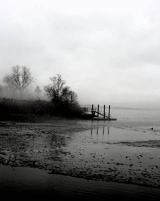 Photograph - Foggy Pier In January by Margie Avellino