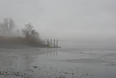 Photograph - Foggy Pier In Low Tide by Margie Avellino