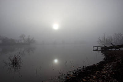 Photograph - Foggy Pond by Brandon  Ivey