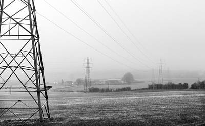 Photograph - Foggy Pylon by Gary Gillette