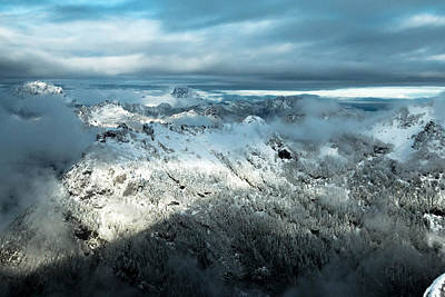 Mountain Royalty-Free and Rights-Managed Images - Foggy Ridge by Ryan McGinnis