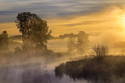 Photograph - Foggy River by Bill Pevlor
