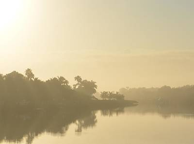 Photograph - Foggy River Morning by Felecia Clarke
