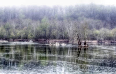 Foggy View On Potomac River Print by Francis Sullivan