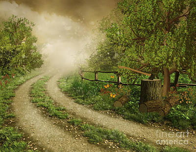 Foggy Road Print by Boon Mee