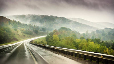 Photograph - Foggy Road In The Mountains by Image By Sherry Galey