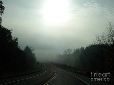 Photograph - Foggy Road by Nan Wright