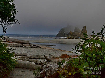 Photograph - Foggy Rocks by Ansel Price
