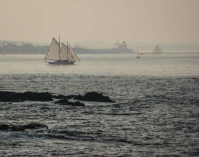 Photograph - Foggy Sail by Jane Luxton