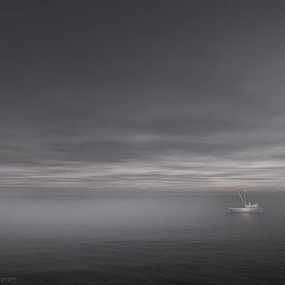 Foggy Stillness Print by Lourry Legarde