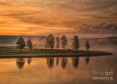 Foggy Sunrise Art Print by Claudia Kuhn