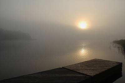 Photograph - Foggy Sunrise by Debbie Oppermann