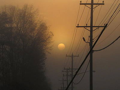 Foggy Sunrise Art Print by Greg Simmons