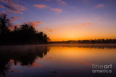 Photograph - Foggy Sunrise by Larry McMahon