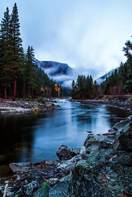 Pacificnorthwest Photograph - Foggy Sunrise by Steven Lamar