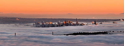 North Vancouver Photograph - Foggy Sunset by Alexis Birkill