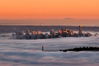 Vancouver Photograph - Foggy Sunset Crop by Alexis Birkill