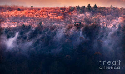 Berkshire Photograph - Foggy Sunset by HD Connelly