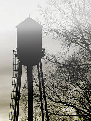 Photograph - Foggy Tower Silhouette by Kristie  Bonnewell