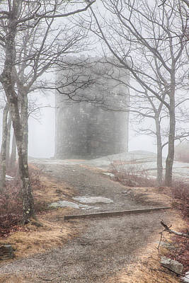 Photograph - Foggy View Of The Summit Of Mount Battie by Jeff Folger