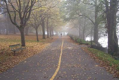 Photograph - Foggy Walk by Brian Chase