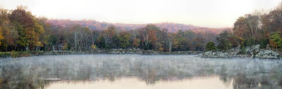 Peaceful Photograph - Foggy Widewater Panorama by Francis Sullivan