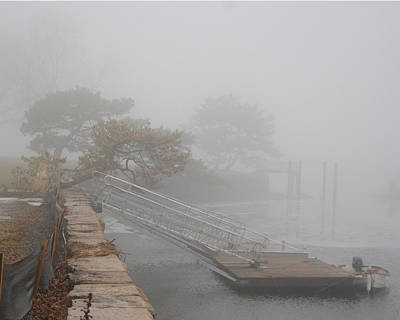 Photograph - Foggy Winter Harbor by Margie Avellino