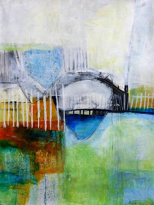 Abstracted Painting - Fogo Island 2 by Jane Davies
