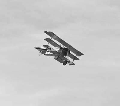 Triplane Photograph - Fokker Dr1 Triplane by Maj Seda