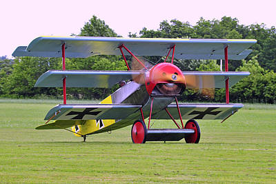 Triplane Photograph - Fokker Dr.i by Dan Myers
