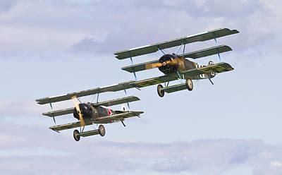Triplane Photograph - Fokker Fighters by Maj Seda