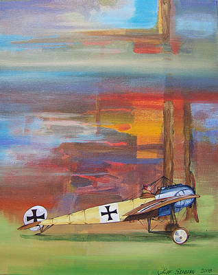 Painting - Fokker Ready by Jeff Seaberg