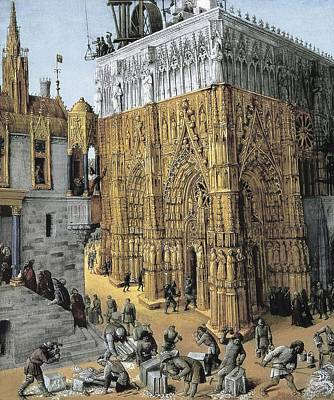 Fol. 163 The Building Of The Temple Art Print by Everett