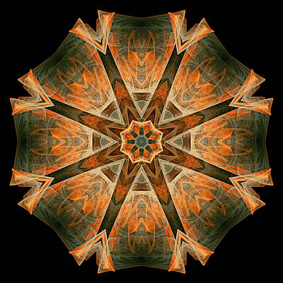 Digital Art - Folded 8-pointed Kaleidoscope Image by Richard Ortolano