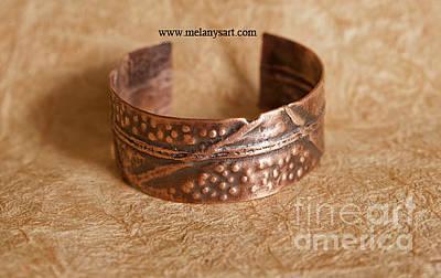 Copper Bracelet Jewelry - Folded Copper Cuff by Melany Sarafis