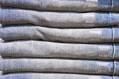 Folded Denim Print by Tom Gowanlock
