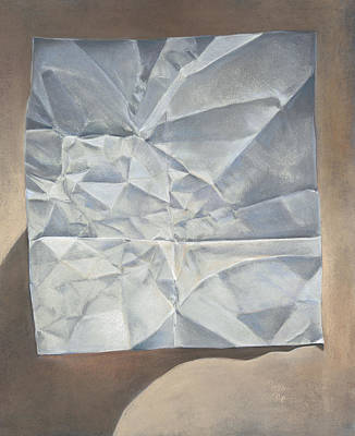 Folded Paper Art Print