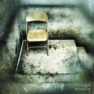 Folding Chair Digital Art - Folding Chair On Stoop by Amy Cicconi
