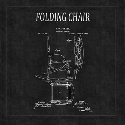 Folding Chair Photograph - Folding Chair Patent 2 by Andrew Fare