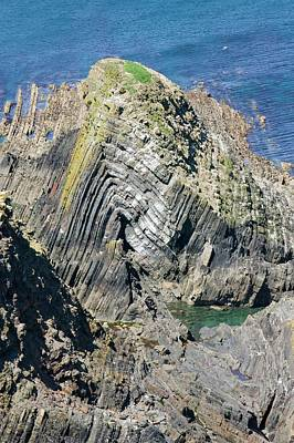 Folding In The Rocks Near Hartland Point Art Print by Ashley Cooper