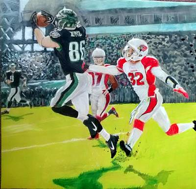 Financial Mixed Media - Foles To Ertz Td by Ezra Strayer