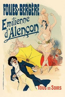 Folies Bergere Emilienne D'alencon Art Print by Gianfranco Weiss