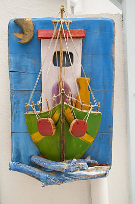 Photograph - Folk Art On The Island Of Mykonos by Brenda Kean