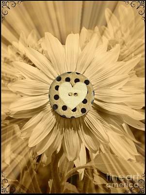 Photograph - Folk Art Sunflower by Bobbee Rickard