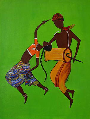 Painting - Folk Dance by Shruti Prasad