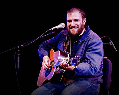 Photograph - Folk Musician David Bazan In Concert by Randall Nyhof