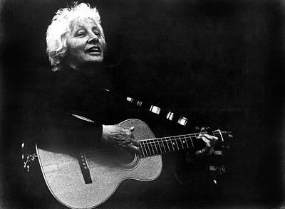 Photograph - Folk Singer Malvina Reynolds by Underwood Archives